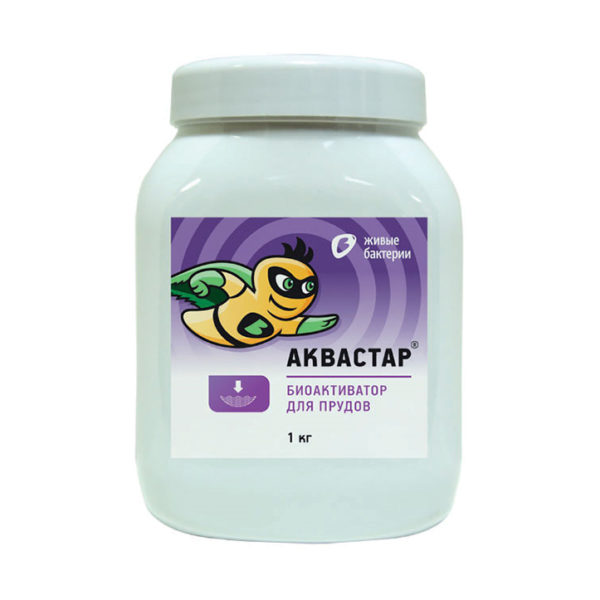 Биоактиватор Аквастар 1 кг. для пруда