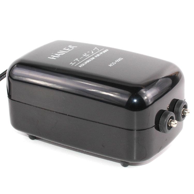 Аквариумный компрессор Hailea ACO-5505, с регулятором потока на 2 канала